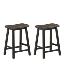 "Load image into Gallery viewer, 24"" Height Set of 2 Home Kitchen Dining Room Bar Stools #9170"