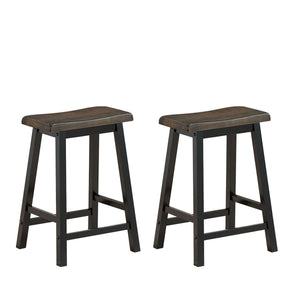 "24"" Height Set of 2 Home Kitchen Dining Room Bar Stools #9170"
