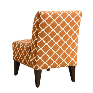 North Accent Slipper Orange Pattern Side Chair 7495
