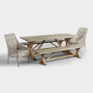 Two Tone Wood San Remo Outdoor Trestle Dining Table (table only) #6006