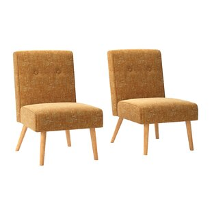 Set of Two Webster Button Tufted Armless Chairs #6010