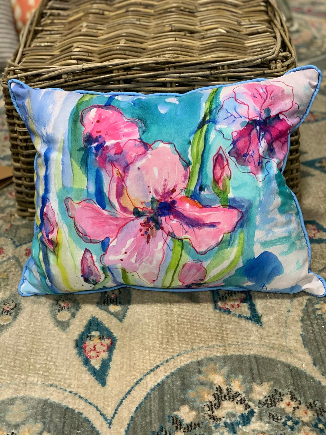 Asiatic Lilly 19 X 15 Outdoor/Indoor pillow