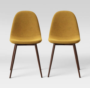 2pc Copley Upholstered Dining Chair - Mustard #4219