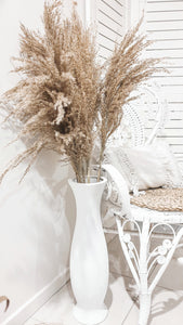 TEXTURED WHITE FLOOR VASE