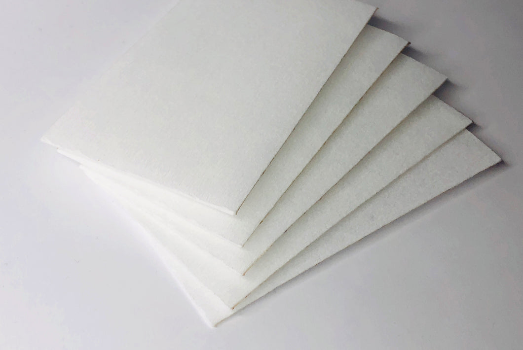 Standard filter, reusable, size 4.5 x 2.75 inch - Set of 5