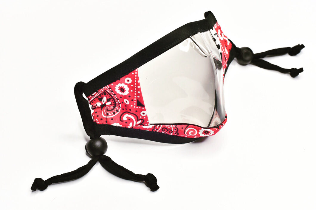 NEW: See-trough face cover Red Bandana
