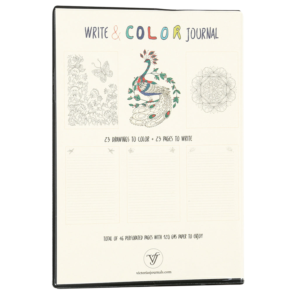Mandala Coloring Book & Lined Journal - Victoria's Journals