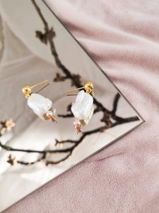Sultana Currant | stainless steel silver / gold earrings