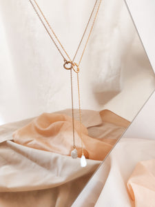 Sultana Trough | stainless steel silver / gold necklace