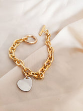 Load image into Gallery viewer, Bold Heart | stainless steel silver / gold bracelet