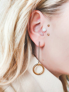 S 10 L | stainless steel silver / gold earrings