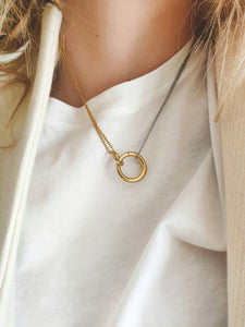 Trough chain | stainless steel silver / gold necklace