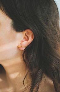 Spiral Line | 925 sterling silver / gold earrings