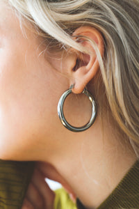 Easy Bold Hoop | stainless steel silver / gold earrings