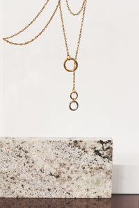 00 Trough 0 | stainless steel silver / gold necklace