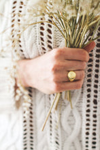 Load image into Gallery viewer, Signet ring | 925 sterling silver gold / silver rings