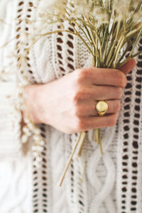 Signet ring | Gold | 925 sterling silver