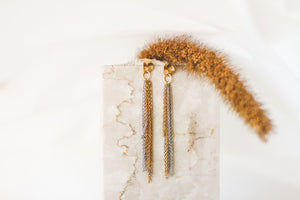 Shooting star | stainless steel gold / silver earrings