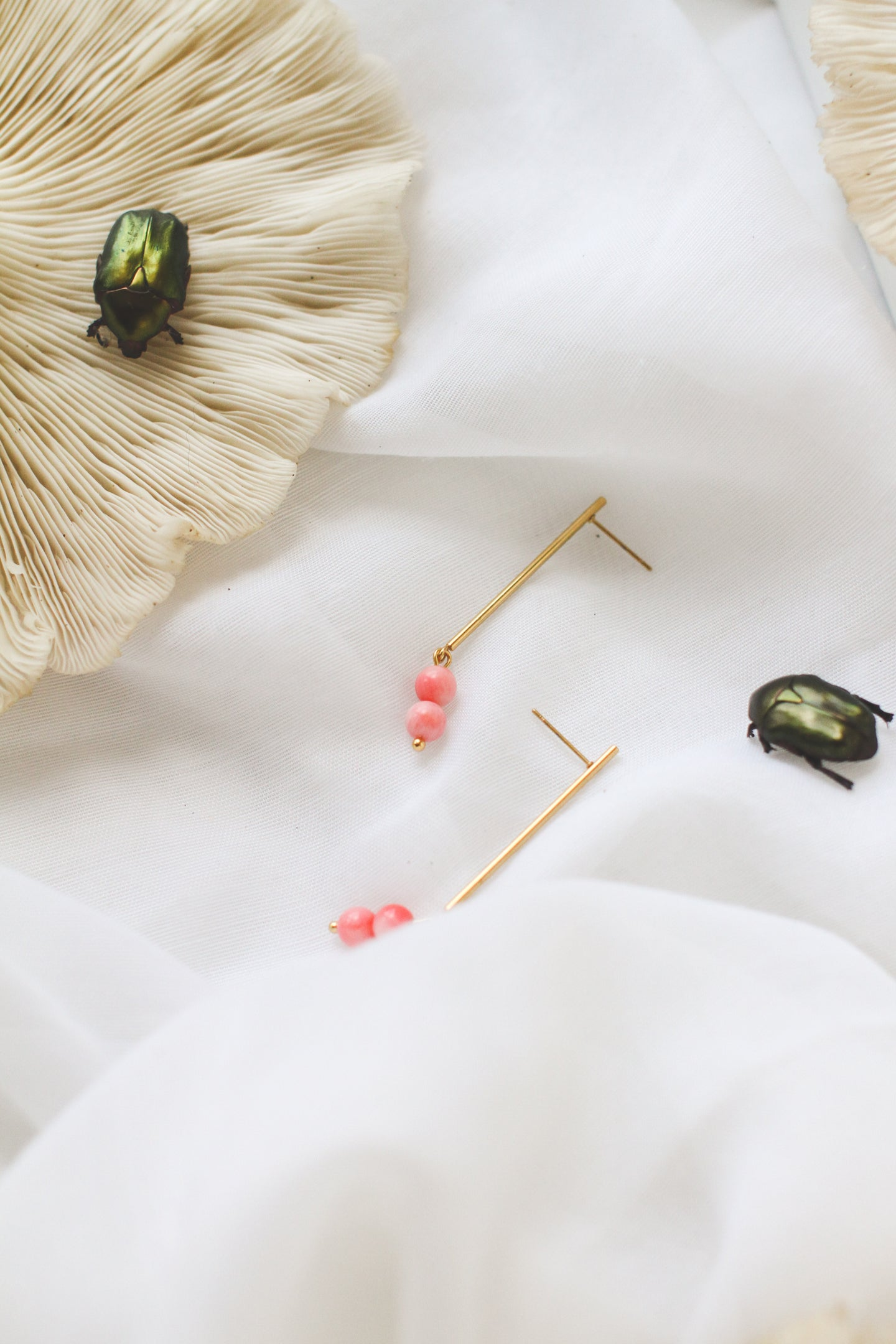 Line My Pearls Mini +| stainless steel silver / gold earrings