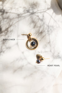 Heart Pearls | stainless steel silver / gold earrings