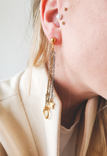 Load image into Gallery viewer, S 0 Star | stainless steel gold / silver earrings