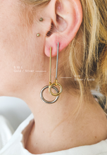 Load image into Gallery viewer, S 10 L | stainless steel silver / gold earrings