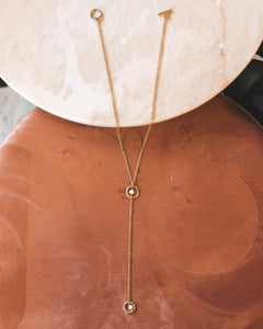 Inside Out | stainless steel silver / gold necklace