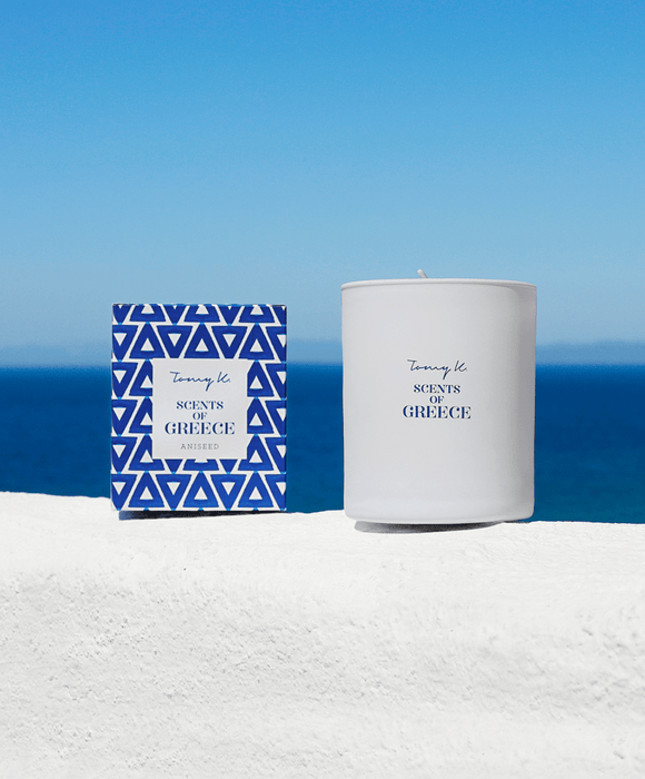 """Scents of Greece"" / Aniseed scented candle"