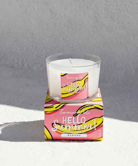 """Hello Summer"" / Banana scented candle - Tomy K"