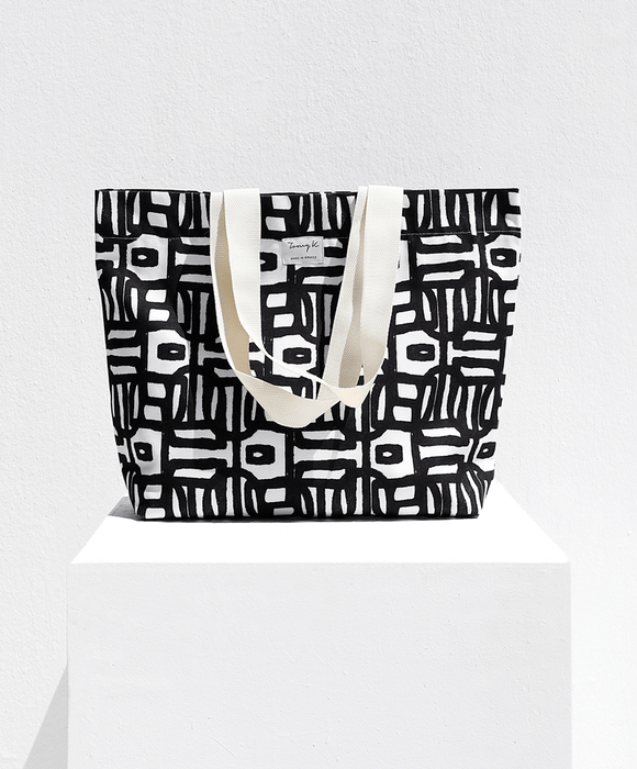 """Ioli Black"" beach bag - Tomy K"
