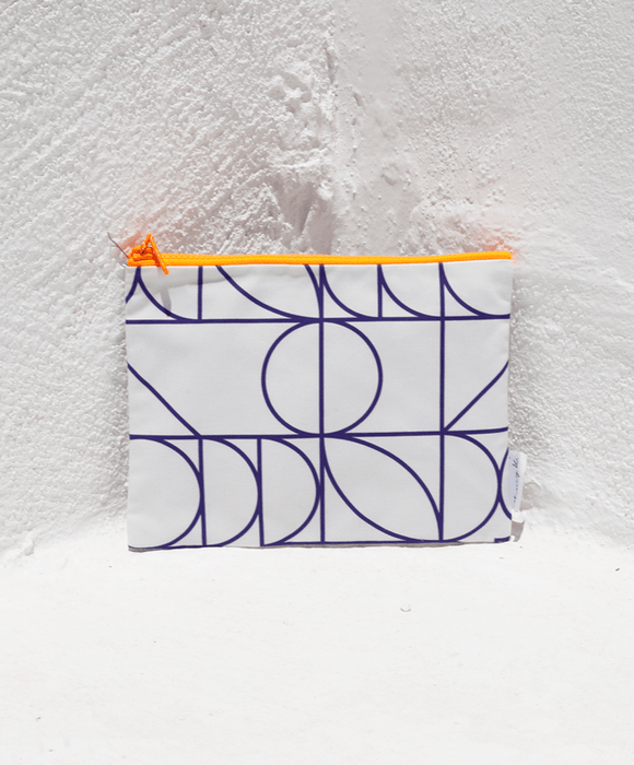 """Grecometry White"" small pouch"