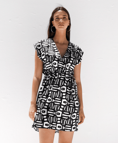 """Ioli Black"" beach dress - Tomy K"