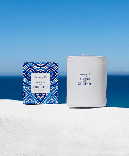 """Scents of Greece"" / Lemongrass scented candle - Tomy K"