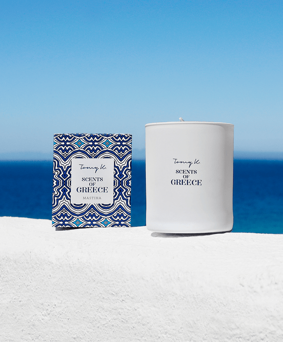 """Scents of Greece"" / Mastiha scented candle"