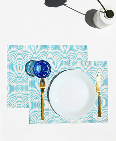 """Arc Light Blue"" placemats - Tomy K"
