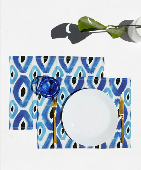 """Rhombus Blue"" placemats - Tomy K"