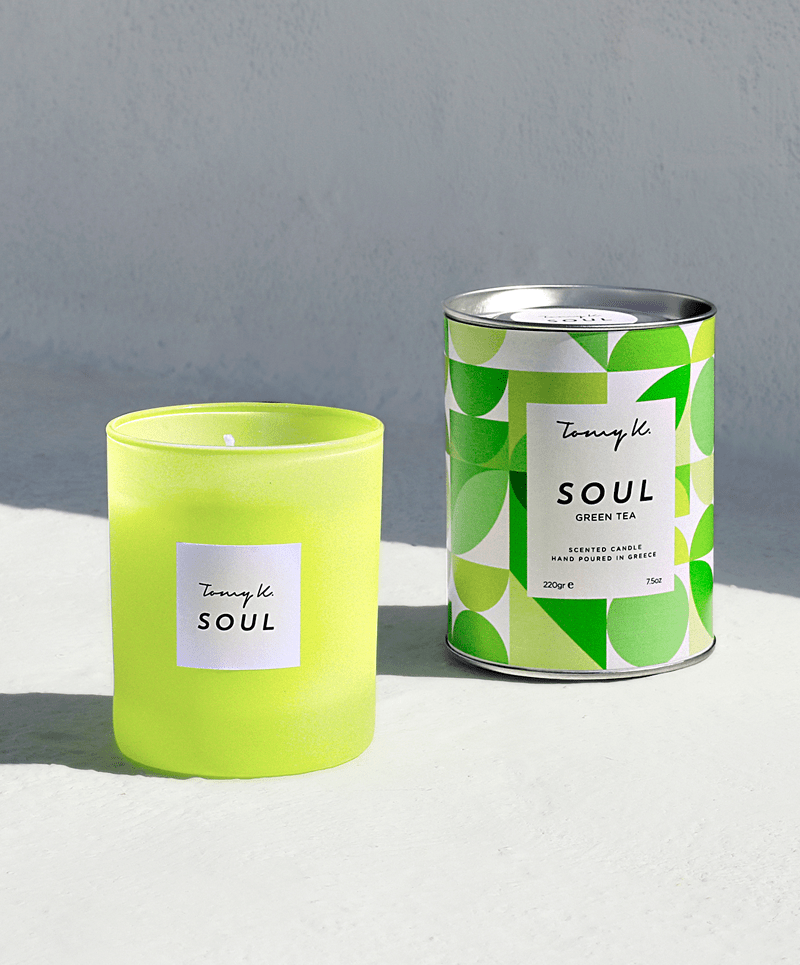 """Soul"" / Green Tea scented candle - Tomy K"