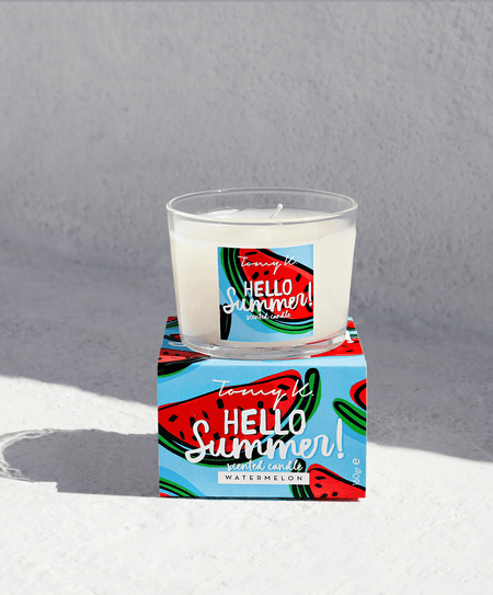 """Hello Summer"" / Watermelon scented candle - Tomy K"