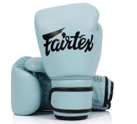 Genuine Leather Boxing Gloves - BGV20 PASTEL BLUE