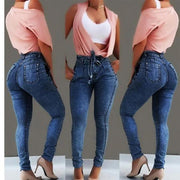 Lacing High Waisted Skinny Jeans