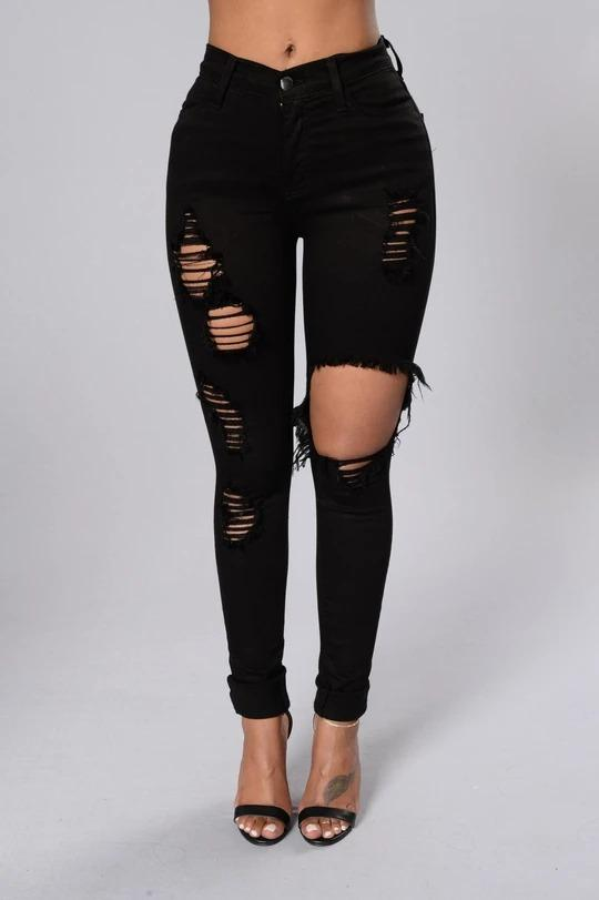 Ripped Frayed Cutout High Waisted Bleach Wash Raw Hem Skinny Jeans