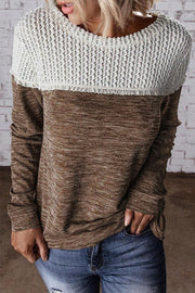 Color Block Round Neck Sweaters
