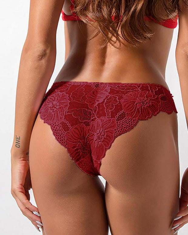 Bowknot Design Crochet Lace Panties
