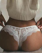 Lace Trim Hollow Out Panty