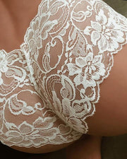Crochet Lace Sheer Mesh Lingerie