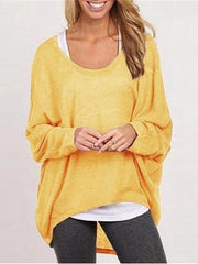 Blouse Casual Loose Tops Shirts Sweater Pullovers - Melonpook