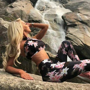 Blossom Mesh Top and Legging 2 Piece Set - Melonpook