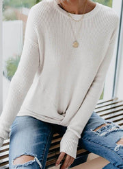 Knot Your Girlfriend Thermal Knit Top
