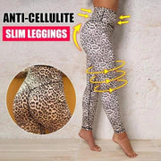 High Waist Leopard Print Fitness Leggings - Melonpook