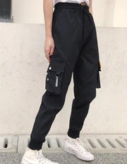 Women Big Pockets Cargo Baggy Sweatpants - Melonpook